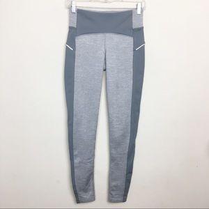 Athelta XS Gray Fleece Lined Leggings